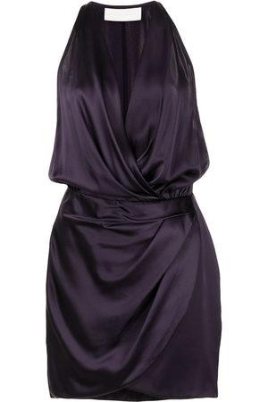 Michelle Mason Halter mini dress