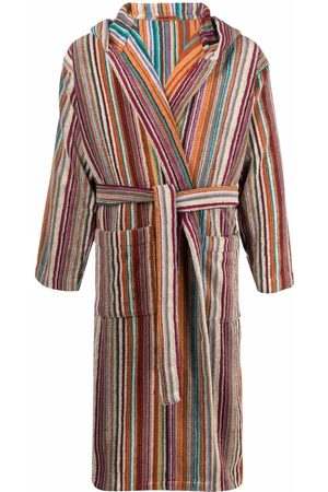 Missoni Home Striped tie-fastening bath robe
