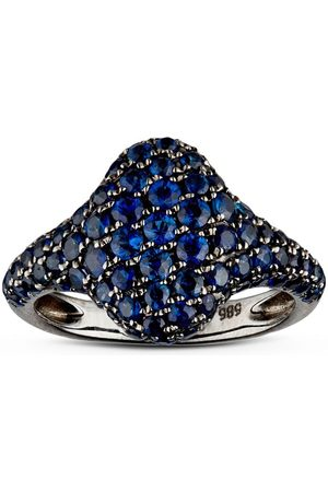 SHAY 18kt gold sapphire pinky ring