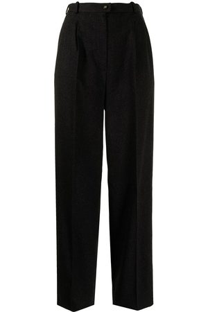 Chanel Pre-Owned Logo-trim wool trousers