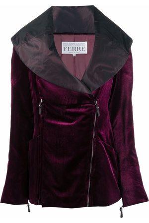 Gianfranco Ferré Pre-Owned 1990s sailor collar double-zipped jacket