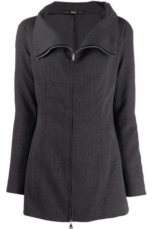 Gianfranco Ferré Pre-Owned 1990s funnel neck zipped jacket
