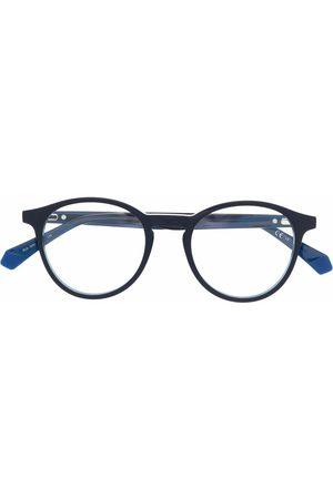 Polaroid Colour-block round-frame glasses