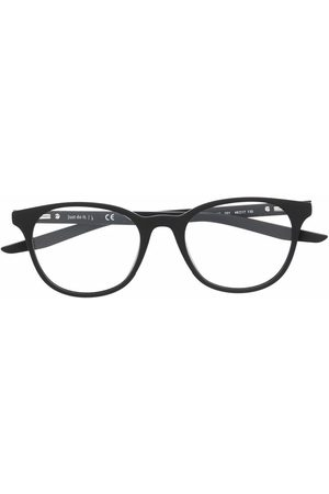Nike Kids Logo-print round-frame glasses