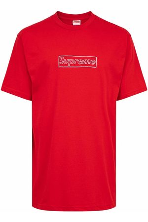 Supreme X KAWS chalk logo T-shirt