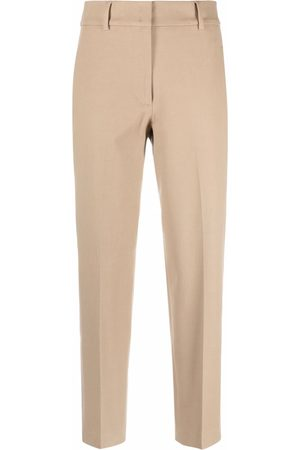 Seventy High-waisted cropped trousers - Neutrals