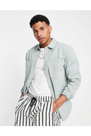 Topman Two pocket overshirt in jade