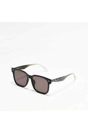 Evisu Sunglasses - Monogram Print Temple Square Sunglasses