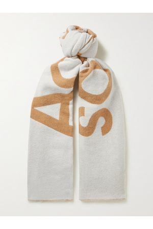 Acne Studios Men Scarves - Logo-Jacquard Wool-Blend Scarf