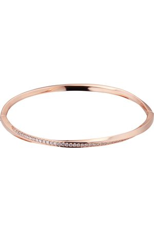 GOLDSMITHS Women Jewellery - Rose Gold Plated Silver Twisted Pave Cubic Zirconia Bangle