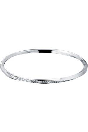 GOLDSMITHS Women Jewellery - Silver Twisted Pave Cubic Zirconia Bangle