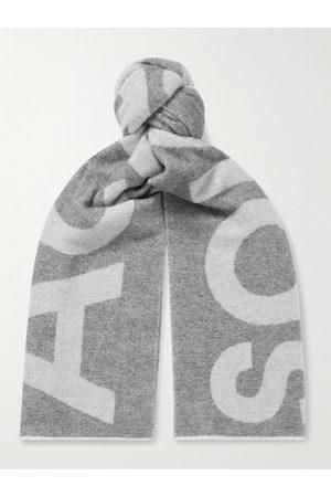 Acne Studios Reversible Two-Tone Intarsia Wool-Blend Scarf