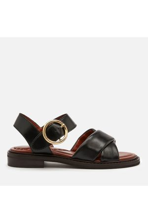 See by Chloé Women Sandals - Women's Lyna Leather Flat Sandals