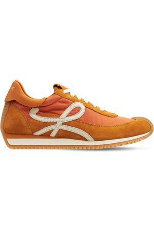 Loewe 20mm Flow Runner Suede & Nylon Sneakers