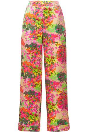 Stella McCartney Ava Cheering Printed Silk Pajama Pants