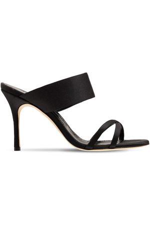 Manolo Blahnik 90mm Gueypla Satin Sandals