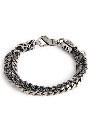 Emanuele Bicocchi Men Bracelets - Sterling Chain and Braided Bracelet