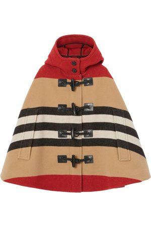 Burberry Kids Wool Icon Stripe Cape