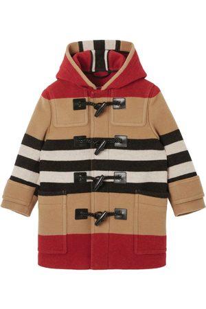 Burberry Duffle Coats - Kids Wool Icon Stripe Coat (3-14 Years)