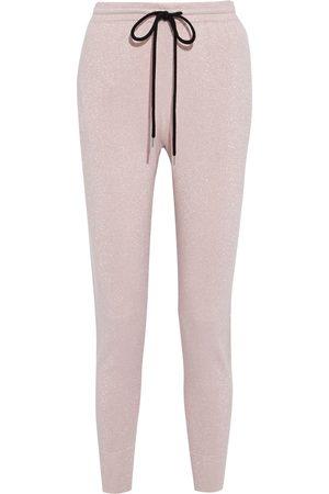 Markus Lupfer Woman Metallic Cotton-blend Track Pants Pastel Size L