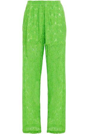 MM6 MAISON MARGIELA Women Wide Leg Trousers - Woman Corded Lace Wide-leg Pants Bright Size 36