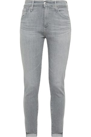 AG Jeans Woman High-rise Skinny Jeans Gray Size 24