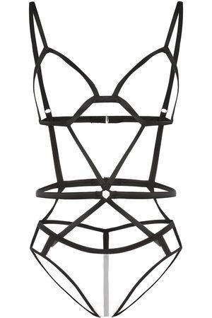 Fleur Du Mal Women Bodysuits - Bondage strap bodysuit