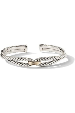 David Yurman Sterling and 18kt yellow gold 9mm Cable Loop bracelet