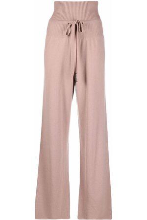 Fabiana Filippi Women Wide Leg Trousers - Flared cashmere track pants