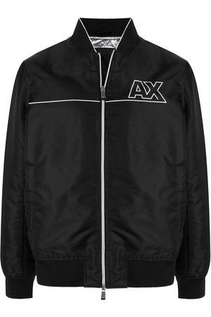 Armani Exchange Logo-patch zip-up jacket
