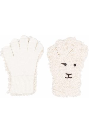 DOUBLET Felted sheep knit gloves - Neutrals