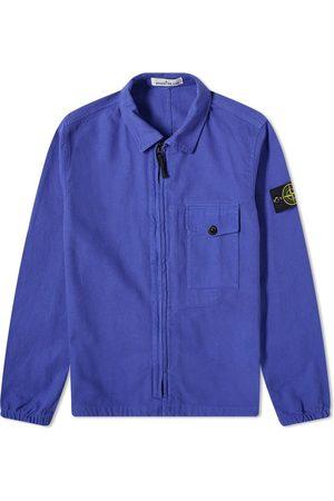 Stone Island Garment Dyed Zip Shirt Overshirt