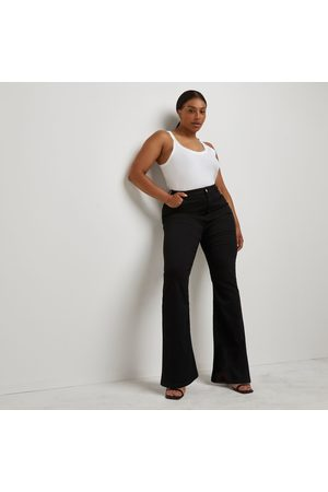 River Island Womens Plus high rise flared jeans