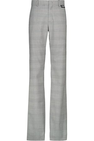 Vetements Checked high-rise stretch-wool pants