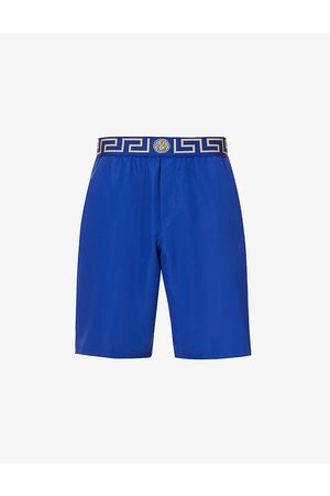 Versace Iconic slim-fit baroque-pattern swim shorts
