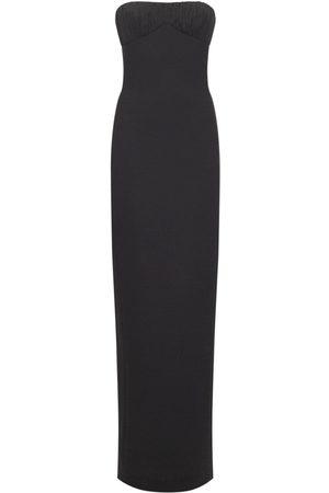 Saint Laurent Women Evening Dresses - Wool Bustier Gown