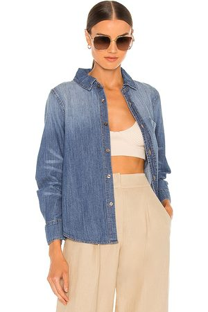 JONATHAN SIMKHAI Ryder Denim Pleated Sleeve Top in . Size XS, S, M.