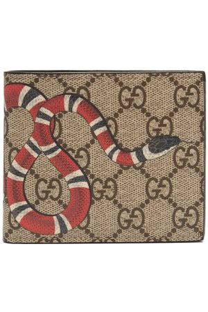 Gucci GG Supreme Kingsnake Bi-fold Wallet - Mens - Multi