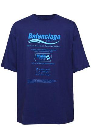 Balenciaga Recycle-print Jersey T-shirt - Mens