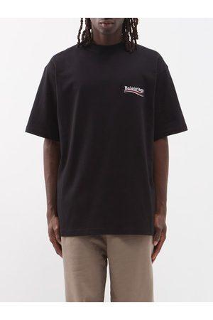 Balenciaga Men T-shirts - Logo-print Crew-neck Cotton-jersey T-shirt - Mens