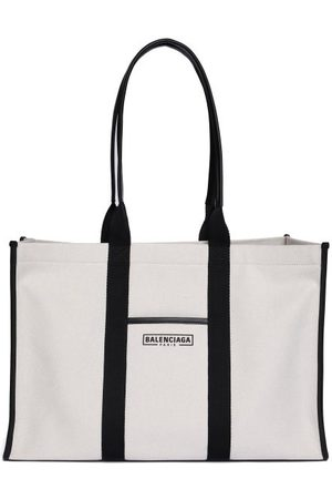Balenciaga Women Shopper & Tote Bags - Neo L Canvas Tote Bag - Womens - Cream