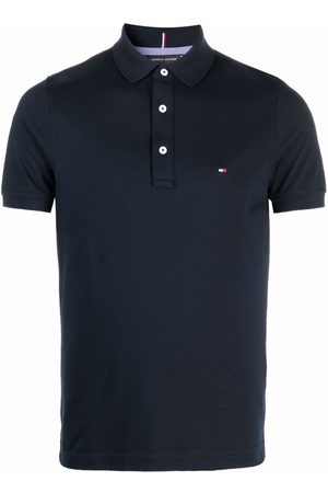 Tommy Hilfiger Flag-embroidered cotton polo shirt