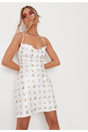 Missguided Ditsy Floral Print Cowl Cami Dress