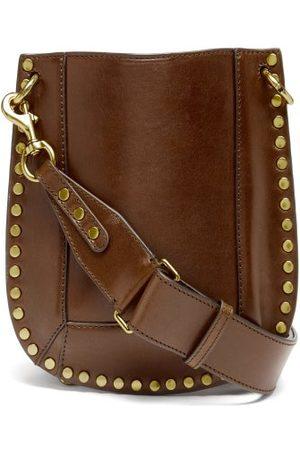 Isabel Marant Nasko Studded Leather Shoulder Bag - Womens - Dark