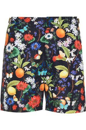 Orlebar Brown Men Swim Shorts - Bulldog botanical-print swim shorts