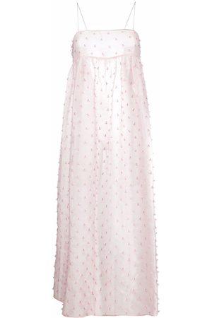 Cecilie Bahnsen Women Printed Dresses - Floral-applique silk dress