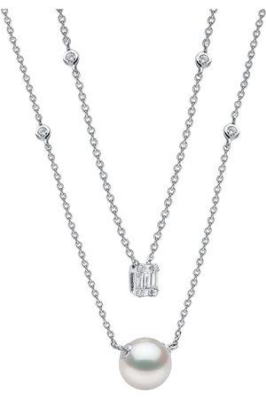 Yoko London Women Necklaces - 18kt white gold Moonlight akoya pearl diamond necklace