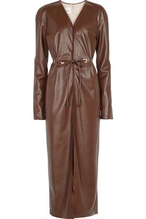 Nanushka Edel faux leather midi dress