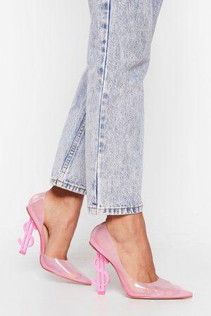 NASTY GAL Womens Money Money Money Transparent Stiletto Heels