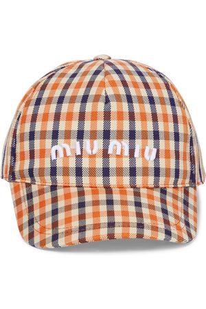 Miu Miu Checked cotton-blend cap